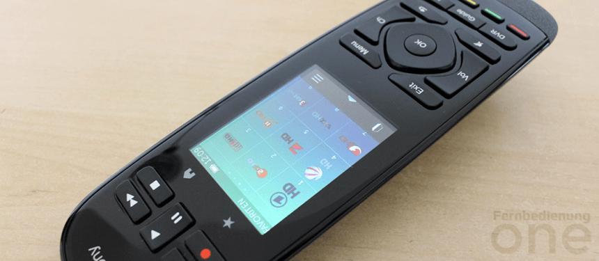 Logitech Harmony Ultimate One bietet eine moderne Variante der Bedienung via Touchscreen